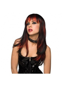 SexShop - Peruka Pleasure Wigs - model Courtney Wig Black with Burnt Red - online