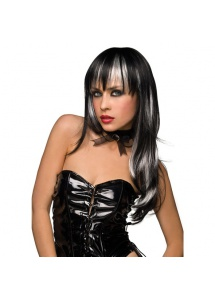 SexShop - Peruka Pleasure Wigs - model Courtney Wig Black with White - online