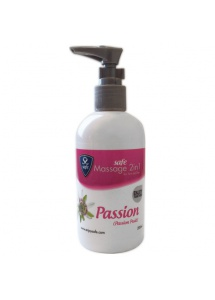 SexShop - Żel nawilżający i do masażu - Safe Massage 2 in 1 Passion Passion Fruit marakuja - online