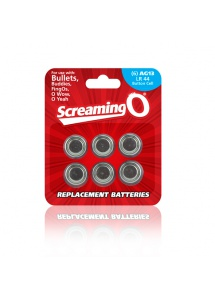 SexShop - Baterie AG-13 - The Screaming O Size AG-13 Batteries x6 do sex zabawek - online