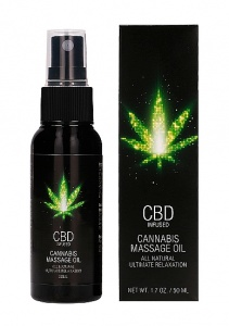 Olejek do masażu z olejem konopnym CBD - CBD Cannabis Massage Oil - 50 ml